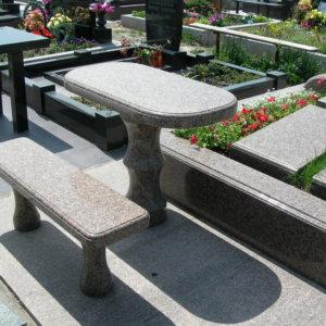 Стол и лавка из гранита СЛ-003