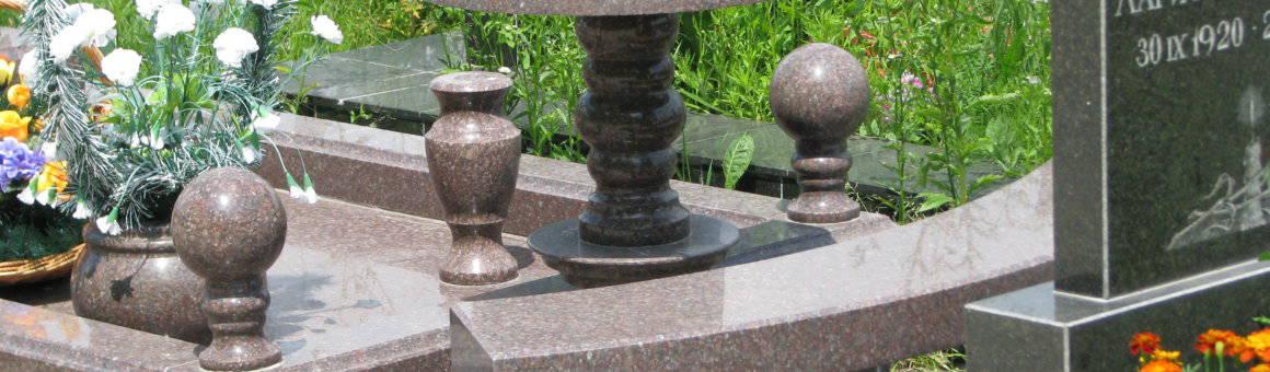 Стол и лавка из гранита СЛ-006