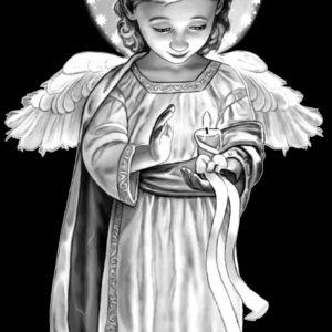 Гравировка-ангелы ГА-004